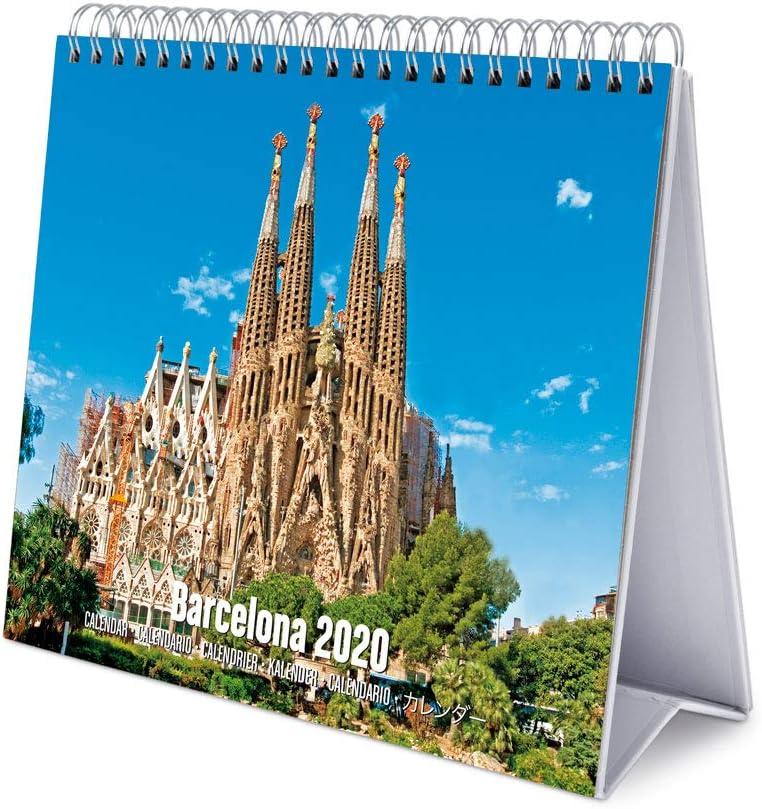 ERIK Deluxe, Calendario De Escritorio 2020 Barcelona, 17 x 20 cm, Multicolor