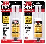 J-B Weld 50101 MinuteWeld Instant-Setting Epoxy Syringe - Dries Clear - 25ml (2)