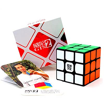 cuberspeed MoYu WeiLong GTS2 Black 3x3 Magic Cube MoYu WeiLong GTS V2 3x3x3 Speed Cube Puzzle: Toys & Games