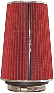 Spectre Universal Clamp-On Air Filter: High Performance, Washable Filter: Round Tapered; 3 in/3.5 in/4 in Flange ID; 8.75 in (222 mm) Height; 6 in (152 mm) Base; 4.75 in (121 mm) Top, SPE-9732