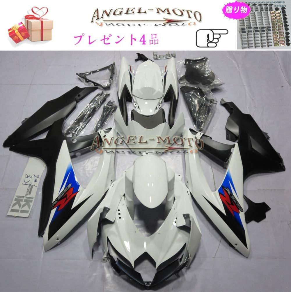 Angel-moto バイク外装パーツ 対応車体 Suzuki スズキ GSXR600 GSXR750 K8 2008 2009 2010 GSX-R600 GSX-R750 08-10 カウル フェアキット ボディ機械射出成型ABS樹脂 フェアリング パーツセット フルカウルセットの S125   B07JMN35DW