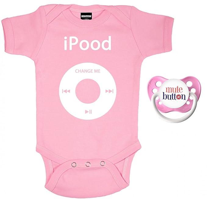 Amazon.com: Kiditude iPOOD bebé Juego de Bodysuit y chupete ...