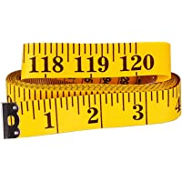 (Yellow) - SAMLOO 120 Inch / 300CM Double-scale Soft Tape Measure for Sewing Tailor Craft Dressmaker Cloth Flexible…