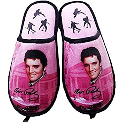 Midsouth Products Elvis Presley Slippers Pink W/Guitars - One Size Fits Most | Slippers