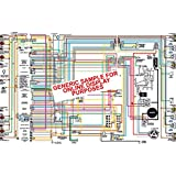 """1969 1970 Opel GT Color Wiring Diagram 18"""" X 24"""" Poster Size"""