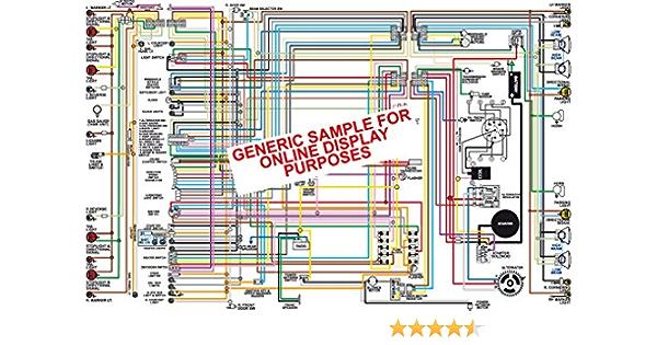 Full Color Laminated Wiring Diagram FITS 1972 Buick Skylark Color Wiring  Diagram 18
