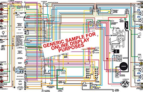 "1967 Dodge Coronet Color Wiring Diagram 18"" X 24"" Poster Size"