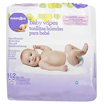 Amazon.com : Babies R Us Sensitive Unscented Baby Wipes - 192 Count : Baby Bathing Products : Baby