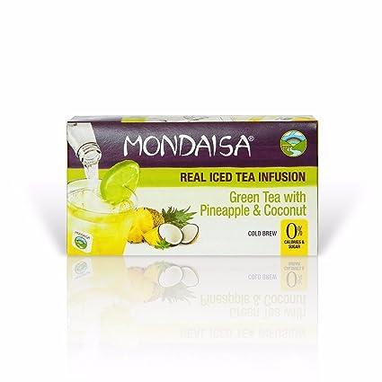 Té verde Mondaisa con piña y coco infusión de té helado real ...
