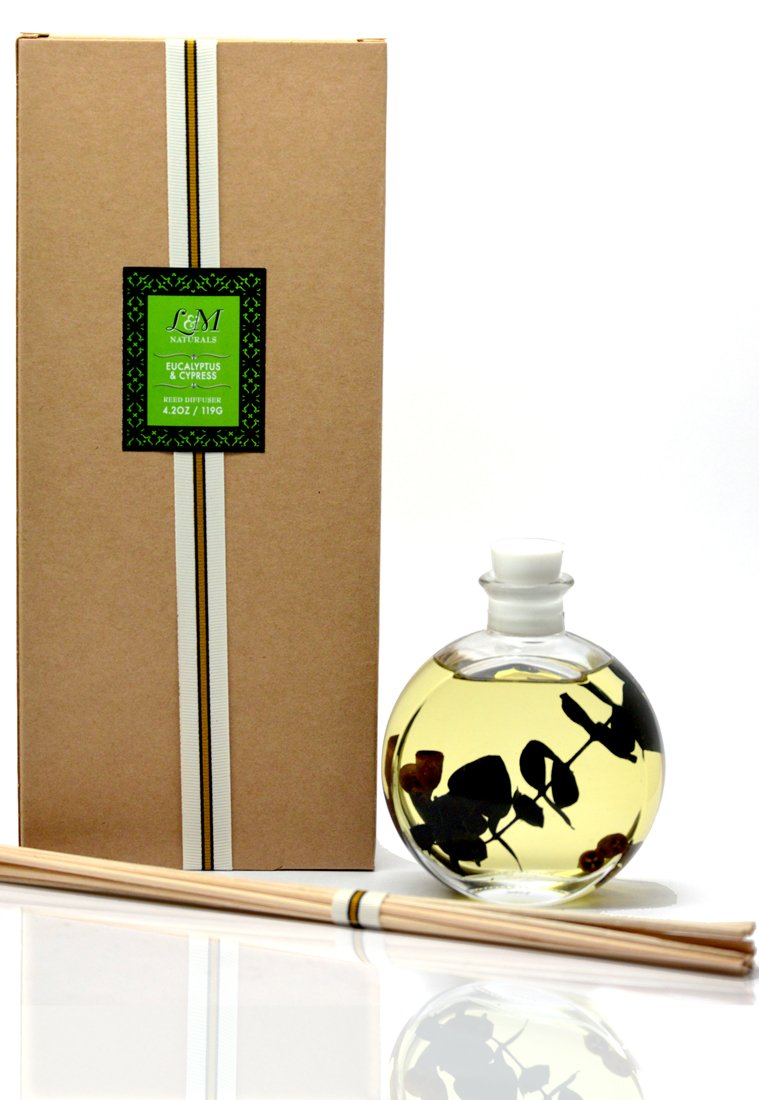 L&M Naturals Eucalyptus & Cypress Fragrance Diffuser - Made with Real Eucalyptus Plants and Botanical Aromatherapy Oils by L&M Naturals (Image #2)