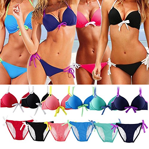 Triangle Bikini Suits Swimwear Push up Padded Gothic Swimsuit Set