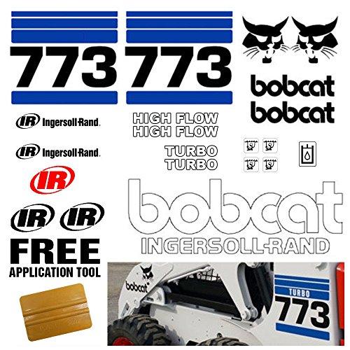 Bobcat 773 v2 Skid Steer 21pc Set Vinyl Decal Sticker bob cat with TOOL ()