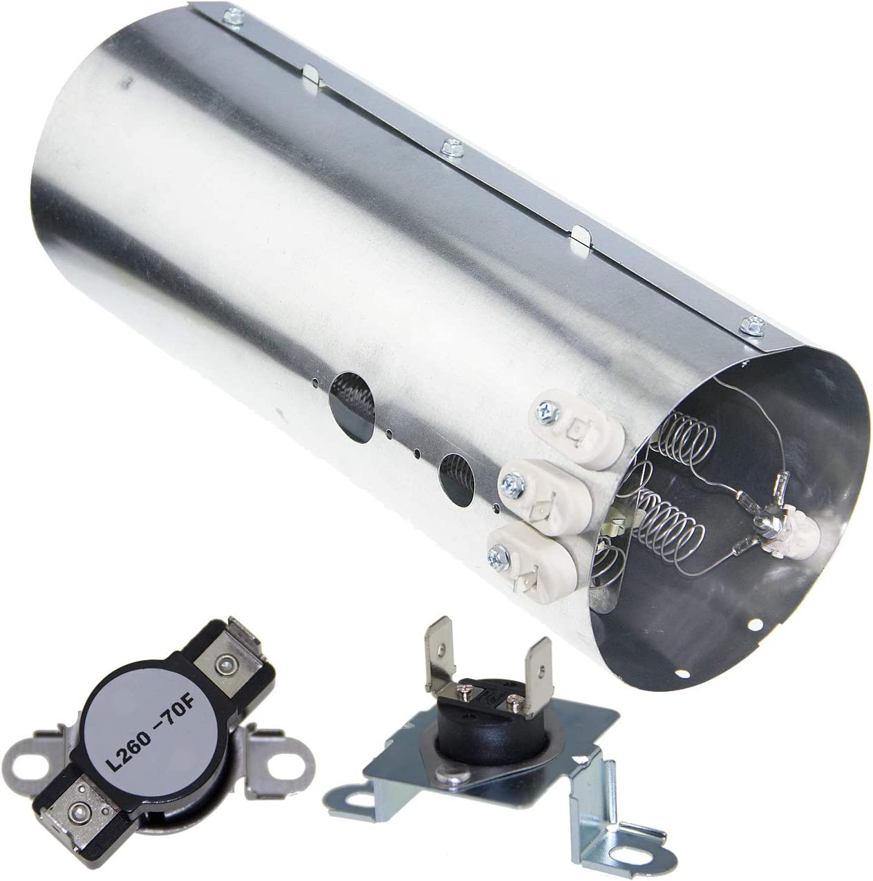 Replacement 134792700 Dryer Heating Element, 137032600 Thermal Limiter and 3204267 Thermostat Compatible with Electrolux Frigidaire PS2349309 AP436865