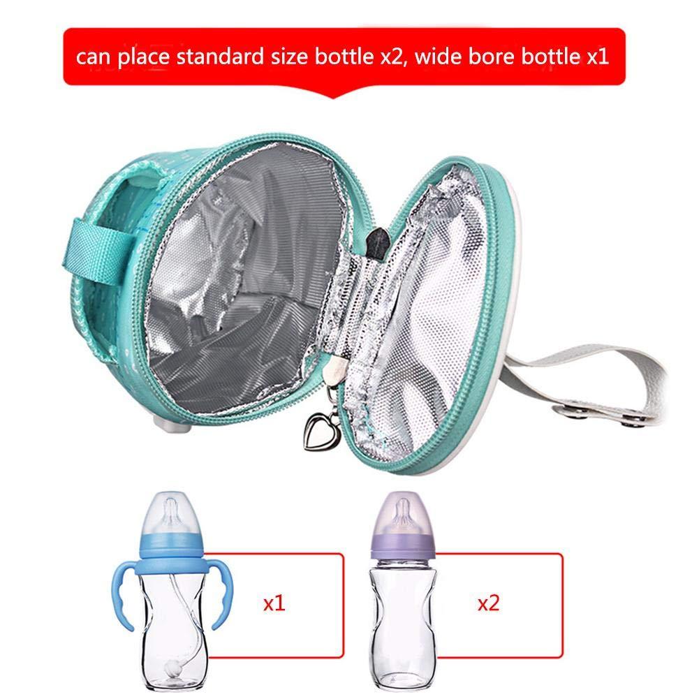 intelligente Milchheizungswerkzeug-Isolationsabdeckung ohne Mobile Stromversorgung Ganmaov Baby-Au/ßenthermostat-Flaschentasche tragbare Babyflaschenw/ärmer-Tasche tragbare USB-Auto-Heiztasche