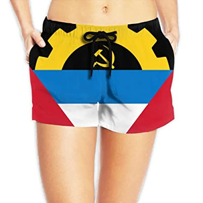 CHUNGCINVI Antigua And Barbuda Women's Popular Drawstring Waist Shorts Quick Dry Beach Shorts