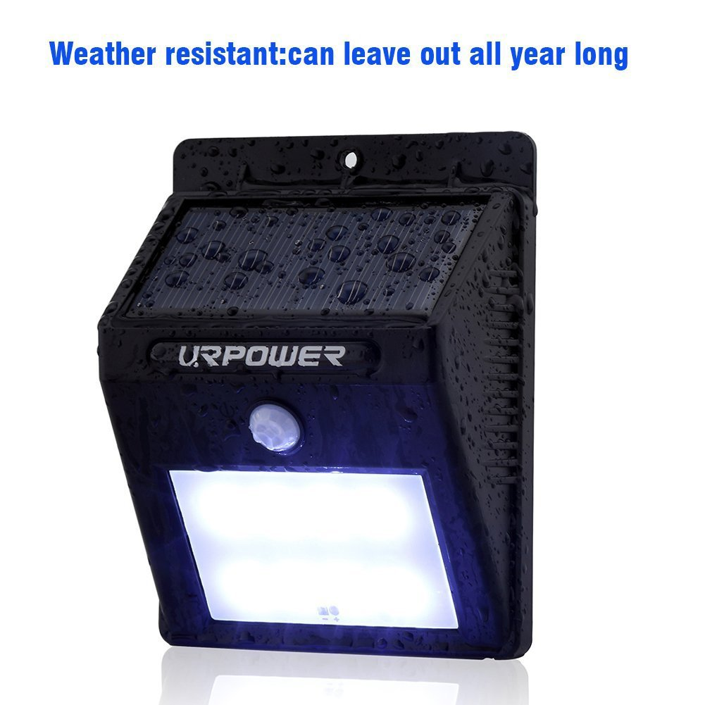 URPOWER Solar Lights 8 LED Wireless Waterproof Motion Sensor Outdoor Light for Patio, Deck, Yard, Garden with Motion Activated Auto On/Off (4-Pack) by URPOWER (Image #4)
