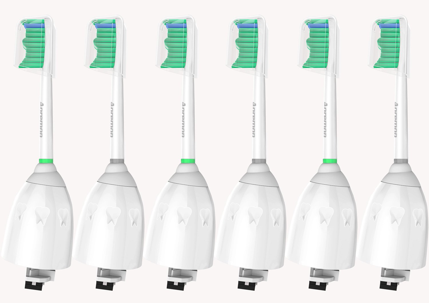 Replacement toothbrush Heads for Philips Sonicare ESeries HX702266 6pack Fit Sonicare Essence Xtreme