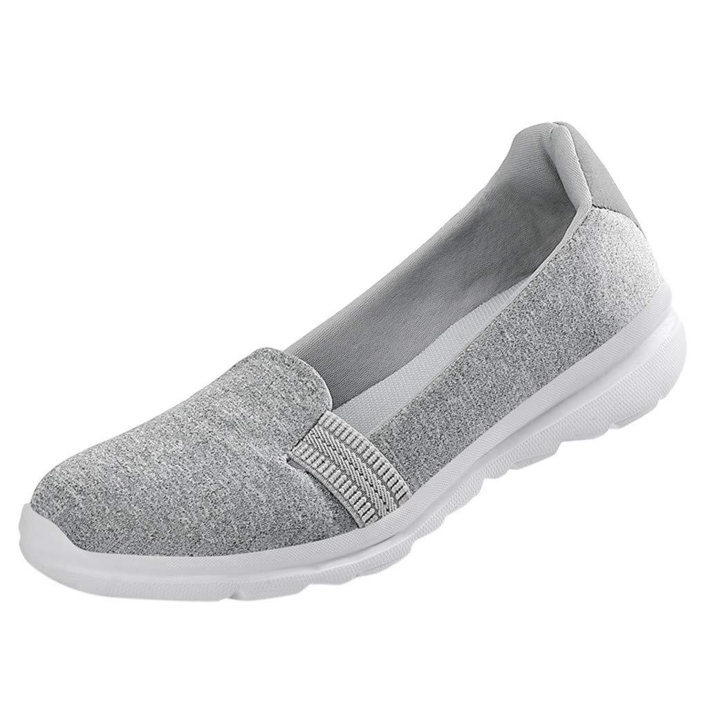 VonVonCo Women's Fashion Color Flat Shoes Comfortable Versatile Shoes Comfortab Grey