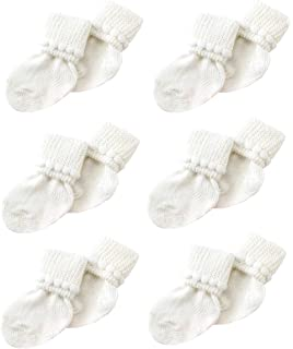 Traditional Baby cotton Turn Over Cable Booties with Bow 0-6months Old