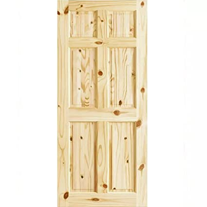 check out b08c6 d9f44 6 Panel Colonial Double Hip Knotty Clear Pine Interior Door Slab (30x80)