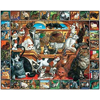 White Mountain Puzzles World of Cats - 1000 Piece Jigsaw Puzzle