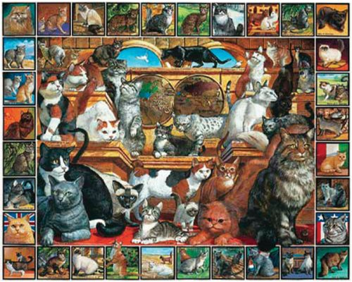 White Mountain Puzzles World of Cats - 1000 Piece Jigsaw - Cats 1000