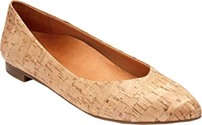 VIONIC Womens Caballo Ballet Flat Gold Cork Size 6 CqkVRU1