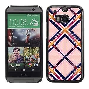 Caucho caso de Shell duro de la cubierta de accesorios de protección BY RAYDREAMMM - HTC One M8 - Triangle Square Colorful Art