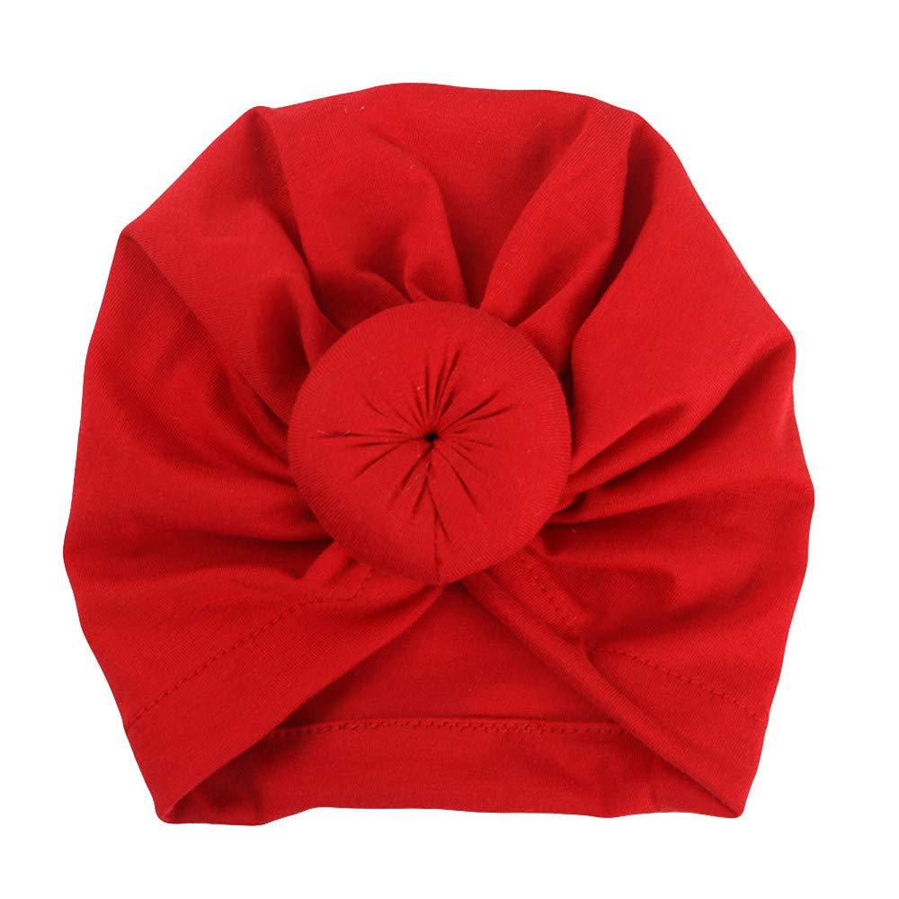 Sunenjoy Chapeau Bandeau Turban Noeud Mou Tête Wraps pour Bébé Filles Bonnet Nouveau-Né Tout-Petits Mode