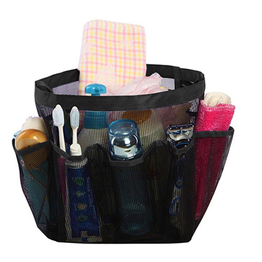 ef8bba3b3f2 ZX101 para colgar en la ducha bolsa de aseo Bolsa de Caddy organizador  bolsillos grandes de colgar para ducha CADDY organizador de malla de secado  rápido ...