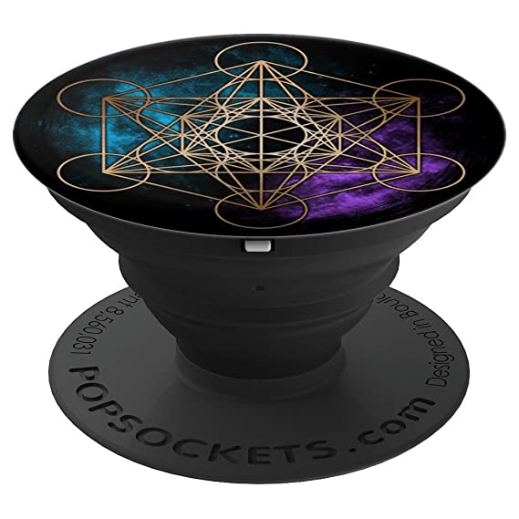 fcf11202ddee Geometric Sacred Geometry - Metatron Cube - Space Galaxy - PopSockets Grip  and Stand for Phones and Tablets