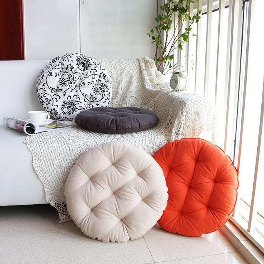 DENG/&JQ Stuhl-pad,leinen Futon Dick Aus Stoff Home Balkont/ür Bay-Fenster Boden Runde Japaner Meditation Tatami Sitzkissen Dicke 13cm-a Durchmesser40cm