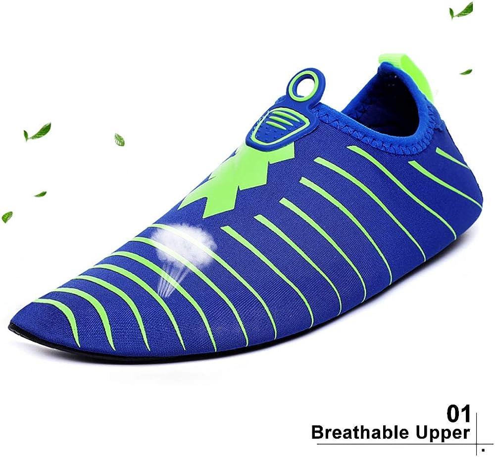 Athyior Chaussettes de Sport Aquatique pour Hommes Femmes Plage Pieds Nus /à s/échage Chaussettes Aqua Slip-on pour Plage de Nager de Surf de Yoga Exercice