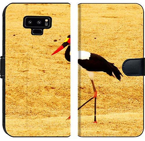 Billed Saddle Stork - Samsung Galaxy Note 9 Flip Fabric Wallet Case Image 22381432 Saddle Billed Stork