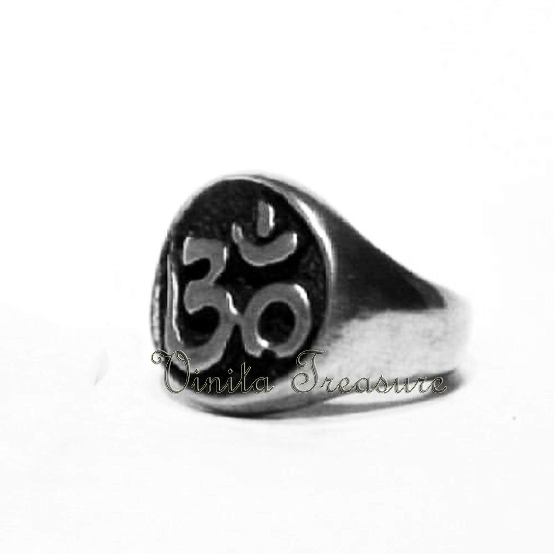 Statement Ring Womens Ring Unisex Ring Om Statement Ring God Silver Ring Om Signet Ring, OM Ring-92.5 Sterling Silver Ring-Handmade Ring- Silver Om Ring Om Silver Ring