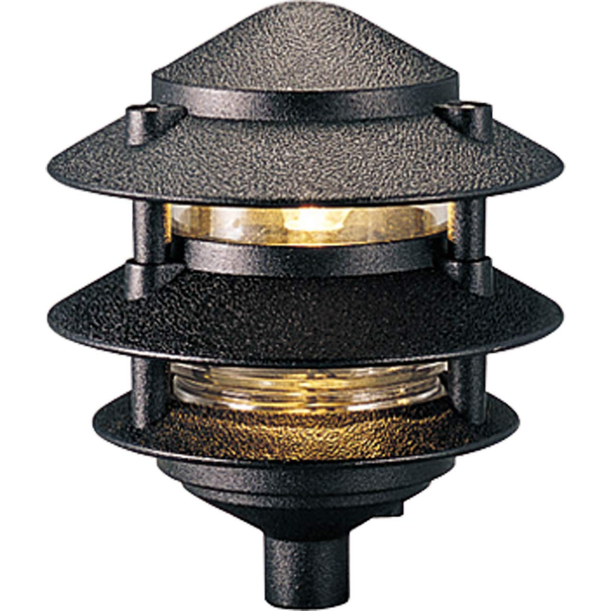 Progress Lighting P5204-31 Cast Aluminum Clear Glass Liner with 1/2-Inch NPS Threaded Fitting for Permanent or P5233 Installation, Black by Progress Lighting