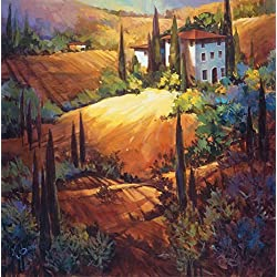 "Morning Light Tuscany by Nancy OToole - 26"" x 26"" Giclee Canvas Art Print"