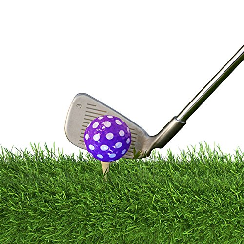 Golf Balls Purple AND Pink Polka Dot (Sleeve of 3)- 2 PACK by Navika (Image #2)