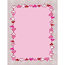 """Great Papers! Heart Dots Letterhead, 8.5""""x11"""", 80 Count (2013227)"""