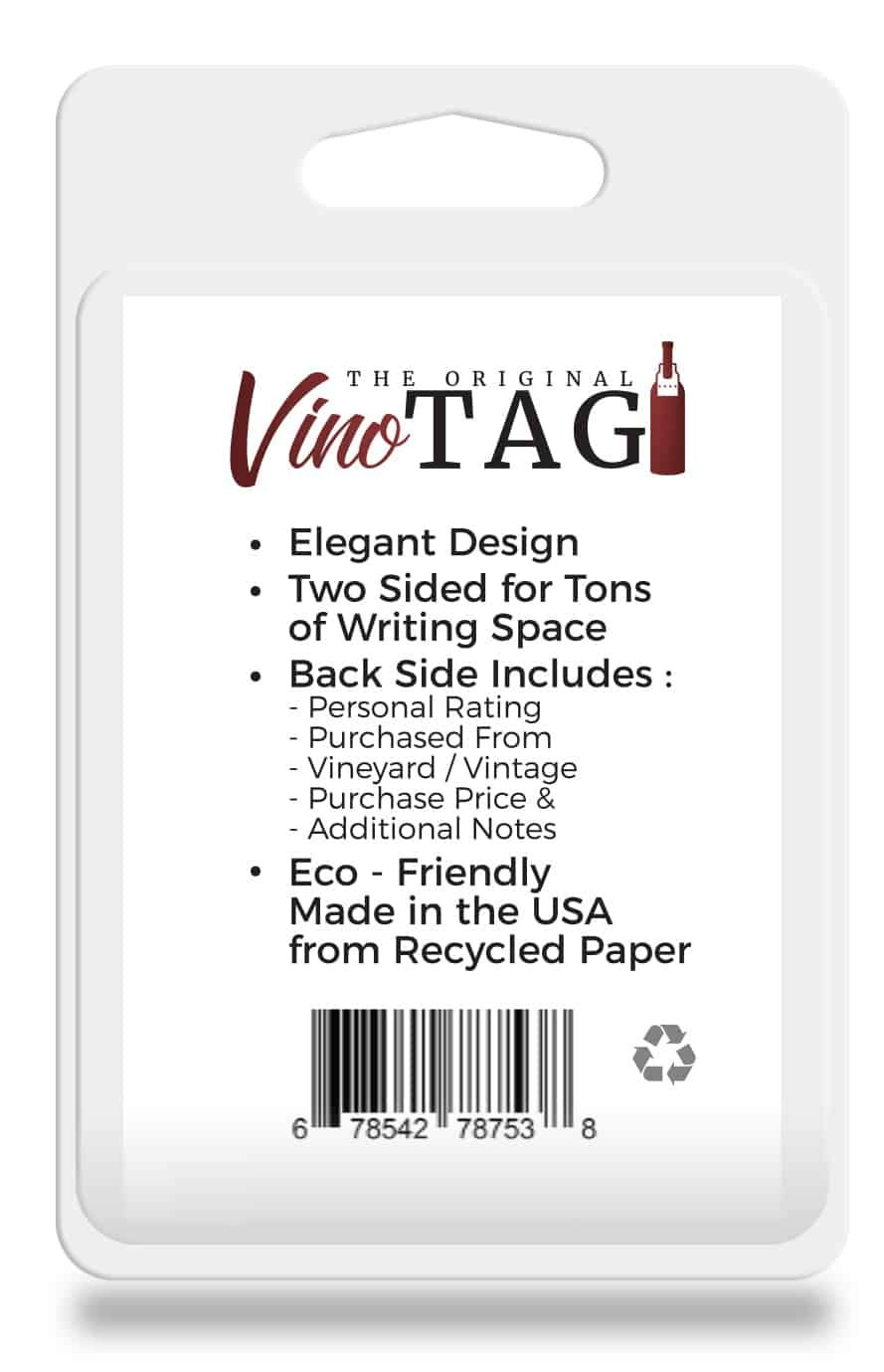 Vino Tag Two Sided Wine Tags (100) - New Packaging, Same Great Product by Vino Tag