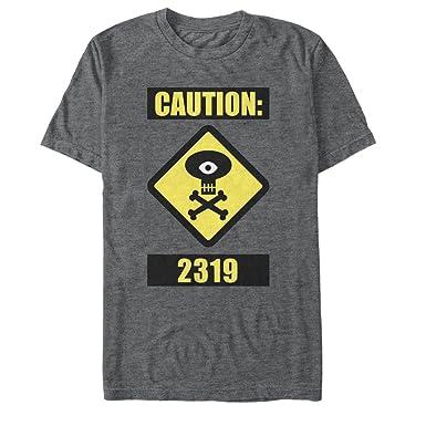 Amazon com: Fifth Sun Monsters Inc Men's Caution 2319 T-Shirt: Clothing