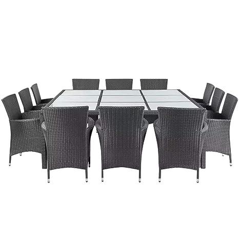 Xinglieu Juego de Mesa sillas de jardín de 25 Piezas en ...