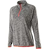 Holloway Sportswear WOMEN'S FORCE TRAINING TOP Women's XS Carbon Heather/Orange