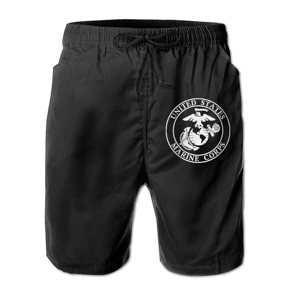 STLYESHORTS USMC United States Marine Corps Logo USMC The Few The Proud Mans Beachwear Shorts Board Shorts