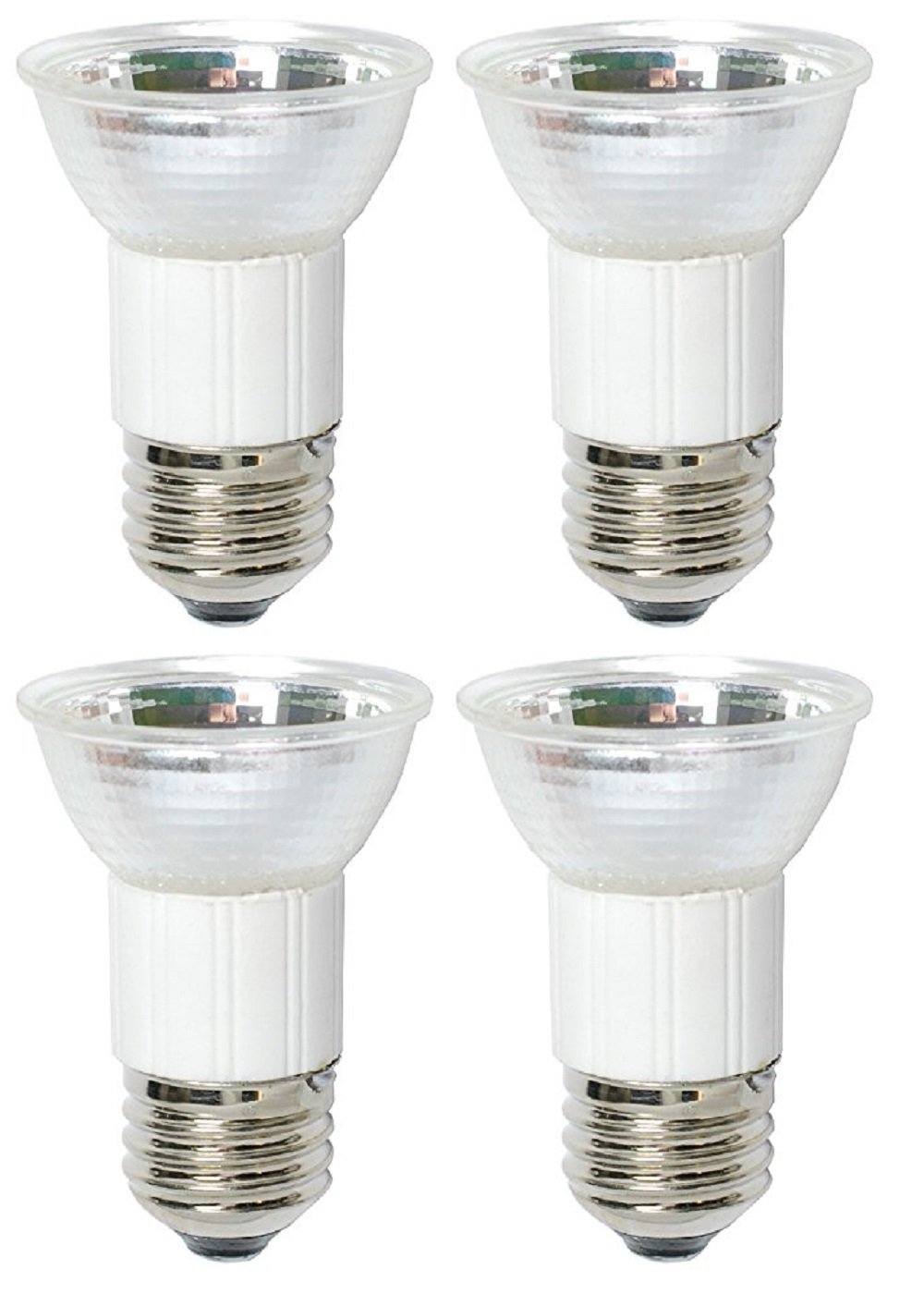 Pack Of 4 75 Watt JDR MR16 75W 120 Volt Medium Base Halogen Flood Lamp E26 120V Mini Reflector Light Bulb