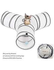 Tunnel de jeu de chat, MFEI Pet Tunnel 3 Way Crinkle tunnel tube jouet pliable pour les chats lapins, chiens, animaux domestiques