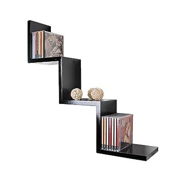 étagère De Salon Zigzag Design Rétro Cd Dvd étagère Murale étagère