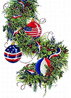 performing arts full color inside patriotic ornaments stationery paper 53130 18 - Christmas Cards For Veterans