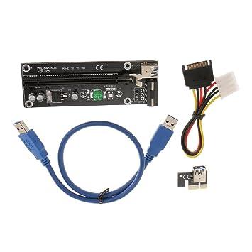 PCI-E 1x a 16x USB 3.0 Cable Adaptador Extensor de La Tarjeta de Expansión de Vídeo 50 cm