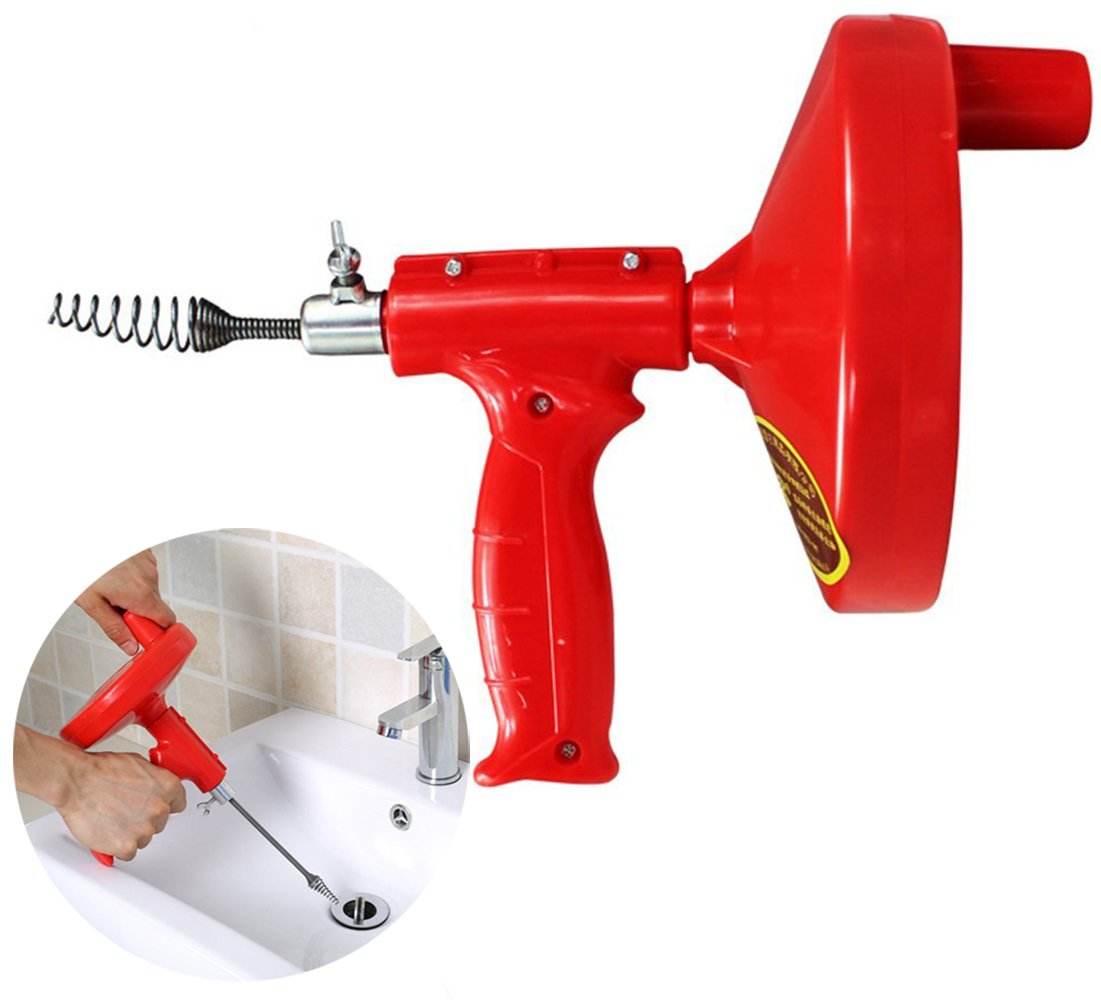 Drain Cleaner PERTTY 5 Meters Dredge Pipes Kitchen Toilet Sewer Blockage Hand Tool Pipe Dredger Drains Sewer Sink Cleaning Clogs